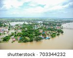 Thailand floods, Natural Disaster,  Helicopter surveys flood