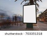 Blank Billboard In A Footpath...