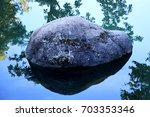 detail of river rock with... | Shutterstock . vector #703353346