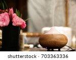 Aroma Oil Diffuser In Bathroom