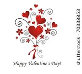 valentine s day card | Shutterstock .eps vector #70338853