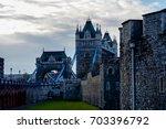 tower bridge in london  uk.... | Shutterstock . vector #703396792