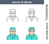 occupations colorful avatar set ...   Shutterstock .eps vector #703398358