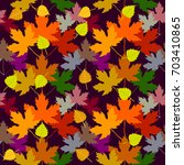 colorful autumn carpet.... | Shutterstock .eps vector #703410865