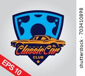 classic car logo template | Shutterstock .eps vector #703410898