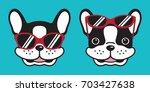 dog french bulldog smile... | Shutterstock .eps vector #703427638