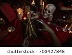 witchcraft composition with... | Shutterstock . vector #703427848