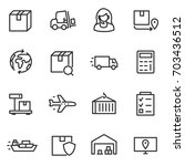 logistics  icon set ... | Shutterstock .eps vector #703436512