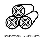 stack of timber   lumber wood... | Shutterstock .eps vector #703436896