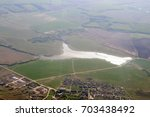 aerial view   western russia at ... | Shutterstock . vector #703438492