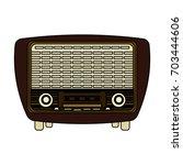 vintage radio icon image  | Shutterstock .eps vector #703444606