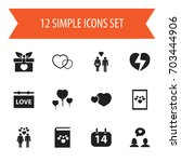 set of 12 editable love icons....