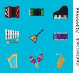 set of 9 editable music flat...