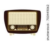 vintage radio icon image  | Shutterstock .eps vector #703445062