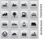 set of 16 editable transport...