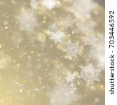 new year and xmas defocused... | Shutterstock .eps vector #703446592