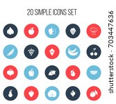set of 20 editable berry icons. ...