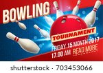 bowling realistic theme eps 10  ... | Shutterstock .eps vector #703453066