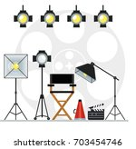 film directors chair with... | Shutterstock .eps vector #703454746