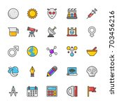 education vector icons 3 | Shutterstock .eps vector #703456216