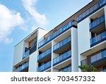 modern  luxury apartment...   Shutterstock . vector #703457332