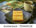 """bika ambon"" indonesian... | Shutterstock . vector #703469128"