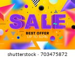 sale poster template   best... | Shutterstock .eps vector #703475872