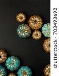 happy halloween card.  shiny... | Shutterstock . vector #703493692