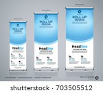 roll up brochure flyer banner... | Shutterstock .eps vector #703505512