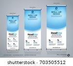 roll up brochure flyer banner... | Shutterstock .eps vector #703505512