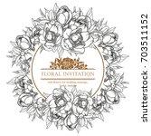 vintage delicate invitation... | Shutterstock . vector #703511152