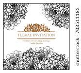 vintage delicate invitation... | Shutterstock . vector #703511182