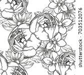 abstract elegance seamless... | Shutterstock . vector #703512076