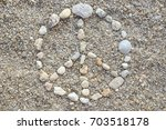 Hippie sign made with pebbles....