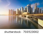 aerial view of singapore... | Shutterstock . vector #703523002
