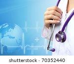 nurse with medical blue