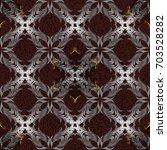 seamless damask pattern... | Shutterstock .eps vector #703528282