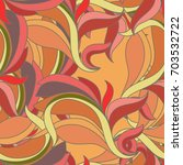 seamless abstract pattern waves ... | Shutterstock .eps vector #703532722