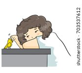 "the vector illustration ""boy... | Shutterstock .eps vector #703537612"