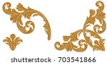 set of vintage baroque ornament ... | Shutterstock .eps vector #703541866