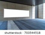 big horizontal poster in public ...   Shutterstock . vector #703544518