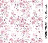vintage flowery pattern....   Shutterstock .eps vector #703558666