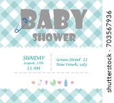 baby shower for newborn... | Shutterstock .eps vector #703567936