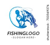 fishing logo vector | Shutterstock .eps vector #703569376