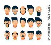 vector set of people expressing ... | Shutterstock .eps vector #703572382