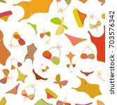 swimsuits seamless pattern... | Shutterstock .eps vector #703576342
