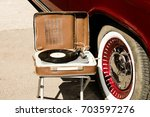 retro music and cars | Shutterstock . vector #703597276