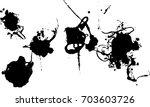 black ink splat | Shutterstock .eps vector #703603726
