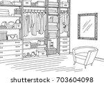 wardrobe room graphic black... | Shutterstock .eps vector #703604098