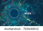 abstract colorful particle grid ... | Shutterstock .eps vector #703630012